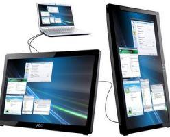 Портативная модель монитора AOC USB Monitor (e1649fwu) станет полезна пользователям ноутбуков