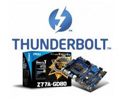 Стартовали поставки материнских плат MSI Z77A-GD80 с Thunderbolt-интерфейсом