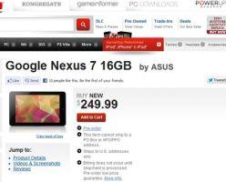 Открыт предзаказ Google Nexus 7 в магазинах GameStop