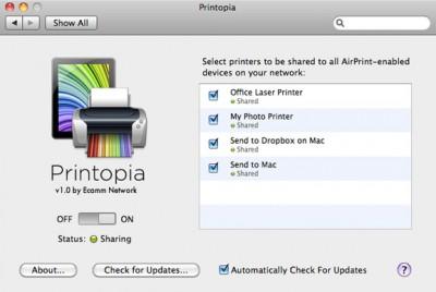 Printopia for Mac 2.0