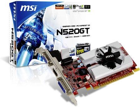 Вариант GeForce GT 520 от MSI