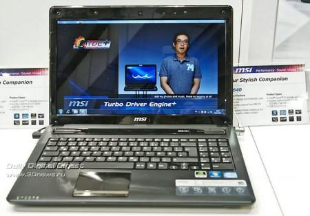 Ноутбуки MSI CX640 и CR640 в продаже