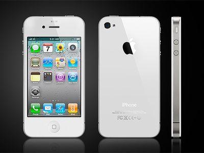 Белый iPhone с новой iOS