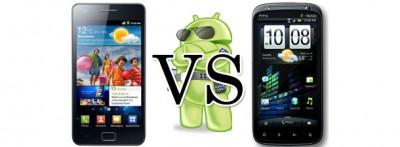 Samsung Galaxy S II и HTC Sensation в сравнении