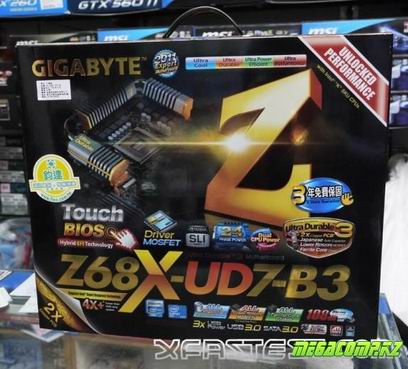 Армия Z68 плат от Gigabyte