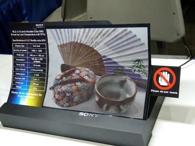 Сверхгибкий органический TFT дисплеем в разработках Sony