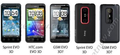 GSM версия HTC EVO 3D