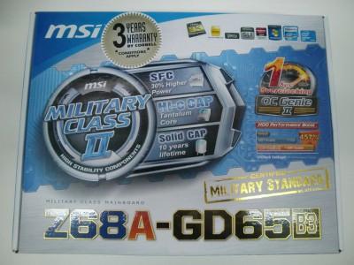 MSI Z68A-GD65 (B3) на базе Intel Z68