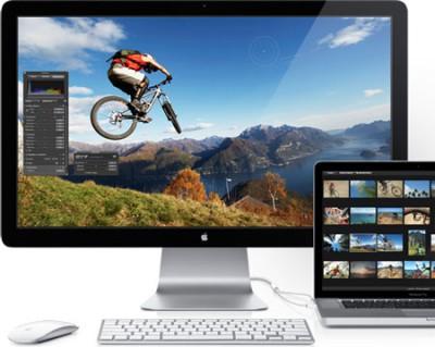 Apple оснастила свои мониторы технологией Thunderbolt