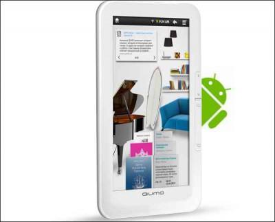 Ридер QUMO Relax с Android получил цветной тачскрин
