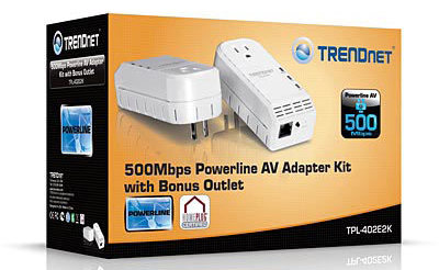 Адаптеры Powerline AV со встроенной точкой доступа Wi-Fi и розеткой от TRENDnet