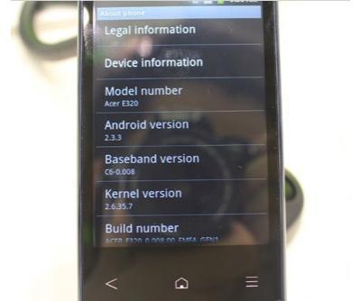 Смартфону Acer E320 дали имя