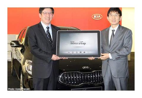 Kia K9 и Samsung Galaxy Tab 10.1
